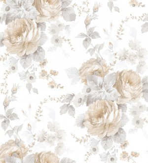 Papel pintado flores grandes románticas vinílico Spring Flowers 121407