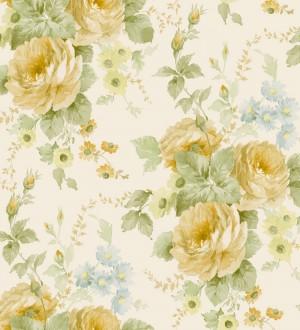 Papel pintado flores grandes románticas vinílico Spring Flowers 121408