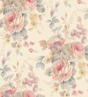 Papel pintado flores grandes románticas vinílico Spring Flowers 121410