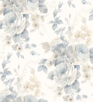 Papel pintado flores grandes románticas vinílico Spring Flowers 121411
