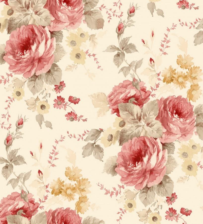 Papel pintado flores grandes rom nticas vin lico spring - Fabricantes de papel pintado ...