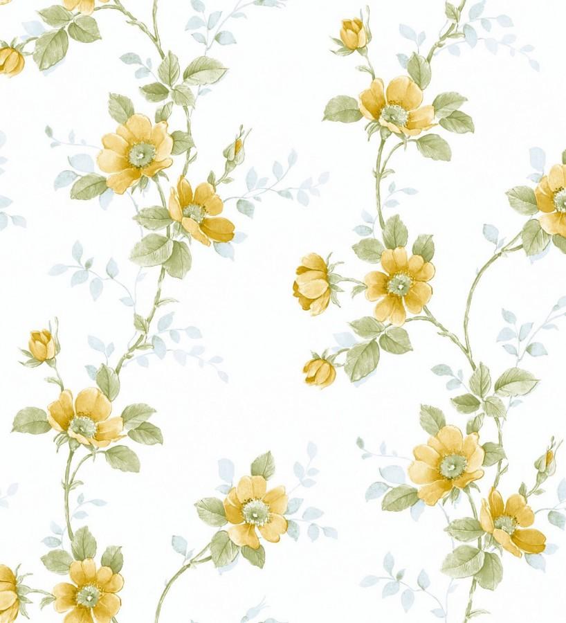 Papel pintado flores estilo vintage vin lico april flowers 121414 - Papel pintado vinilico ...