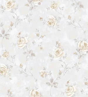 Papel pintado flores románticas estilo vintage vinílico Campo dei Fiori 121419