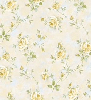 Papel pintado flores románticas estilo vintage vinílico Campo dei Fiori 121420