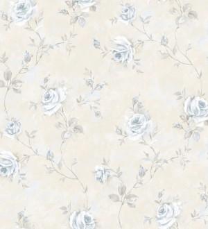 Papel pintado flores románticas estilo vintage vinílico Campo dei Fiori 121421