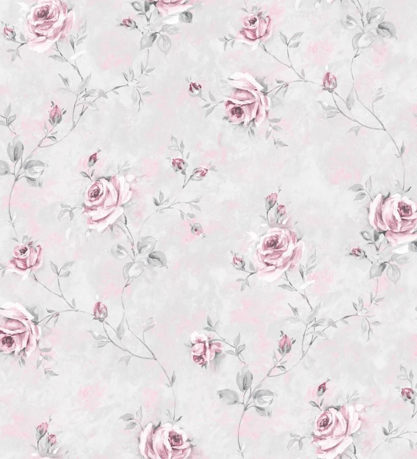 Papel pintado flores románticas estilo vintage vinílico Campo dei Fiori 121422