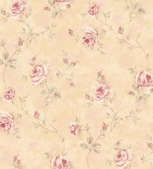 Papel pintado flores románticas estilo vintage vinílico Campo dei Fiori 121423