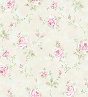 Papel pintado flores románticas estilo vintage vinílico Campo dei Fiori 121424