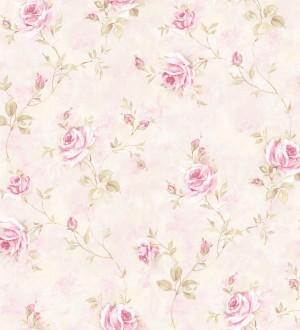 Papel pintado flores románticas estilo vintage vinílico Campo dei Fiori 121425