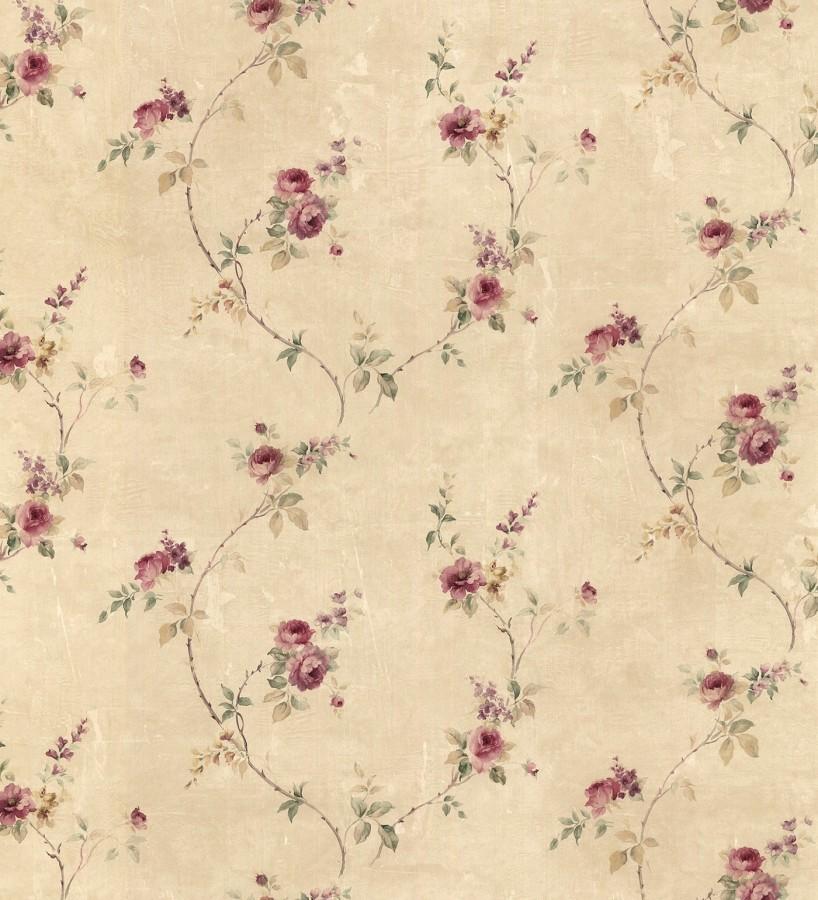 Papel pintado peque as flores estilo vintage emma - Gaulan papel pintado ...