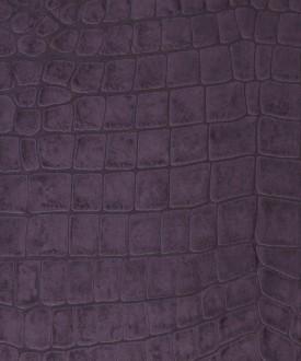 Papel pintado imitación piel de cocodrilo morado vinílico Tasmania 121458