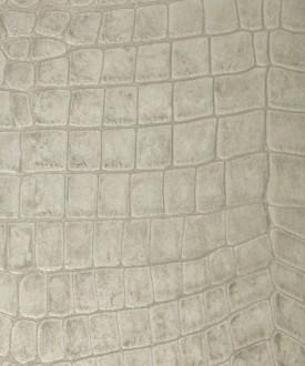 Papel pintado imitación piel de cocodrilo blanco vinílico Tasmania 121460