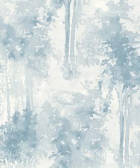Papel pintado bosque de árboles pintados a acuarela Villa Lucia 121009