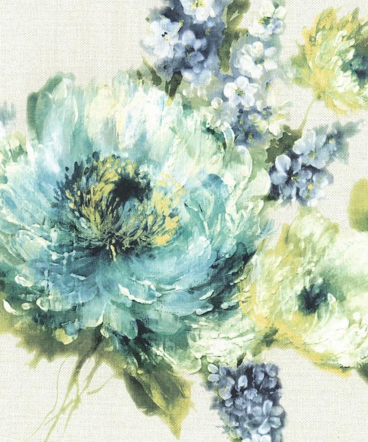 Papel pintado flores grandes de acuarela martina 121157 - Papeles pintados gaulan ...