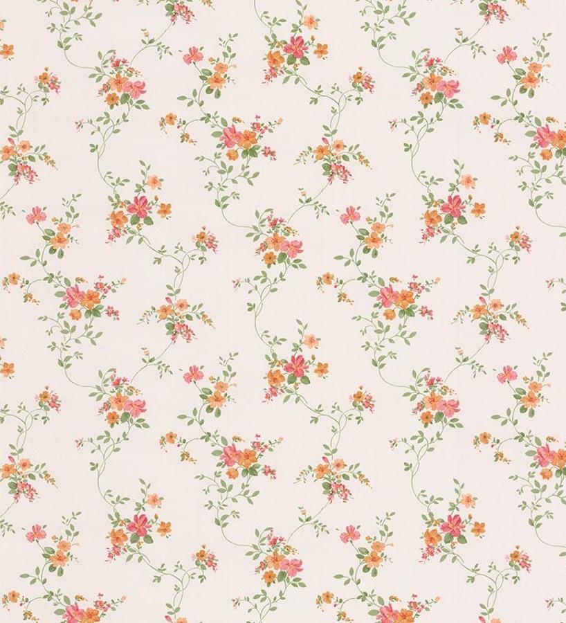 Papel pintado flores románticas pequeñas vinílico Villa Regina 121241