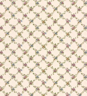 Papel pintado ornamental flores pequeñas vinílico Fiorenza 121255