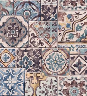 Papel pintado azulejos sevillanos Shabby Chic Provenza 121259