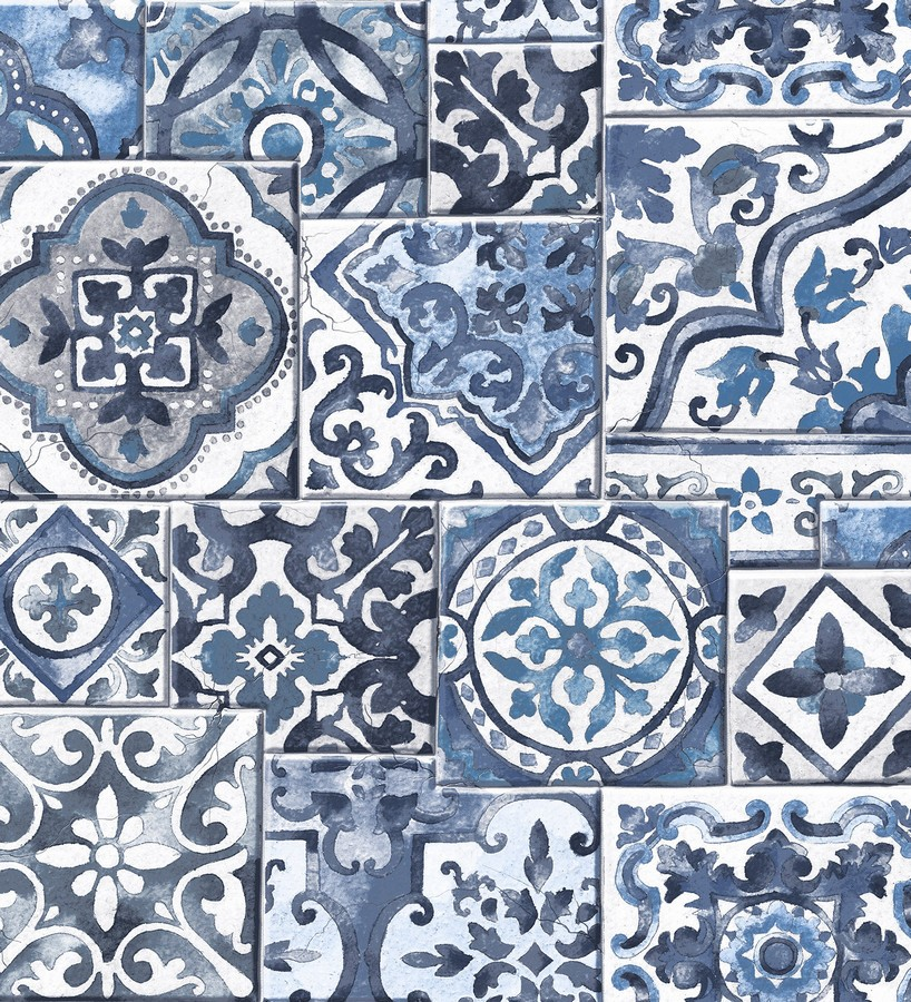 Papel pintado azulejos sevillanos Shabby Chic Provenza 121260