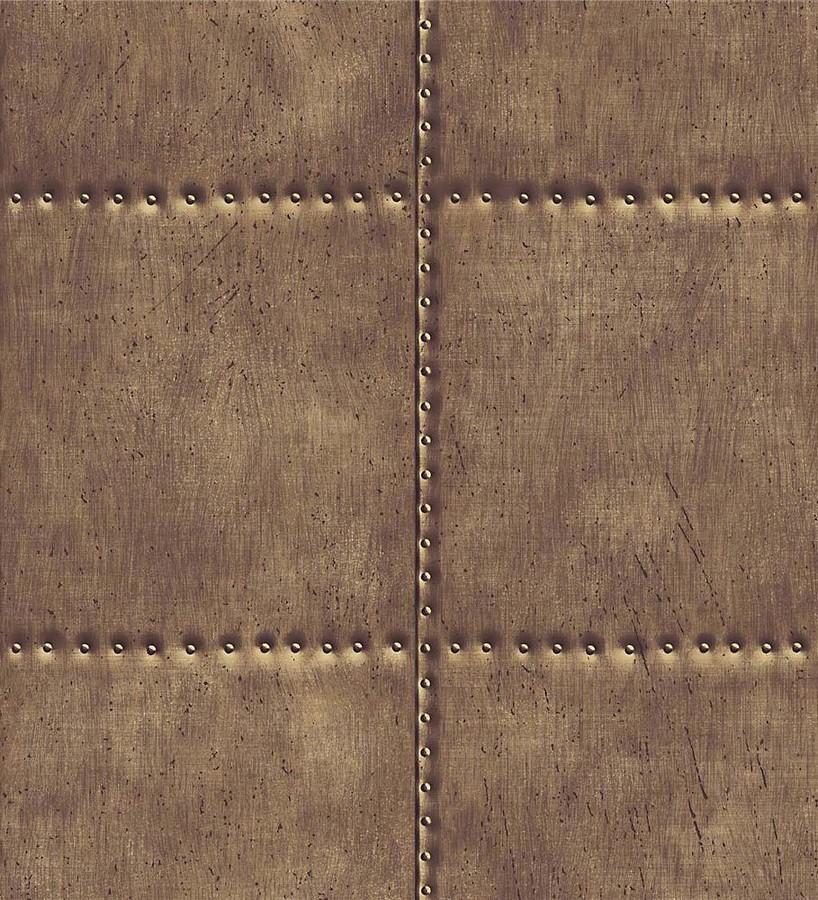 Papel pintado chapa con tachuelas gris claro Bowman 121263