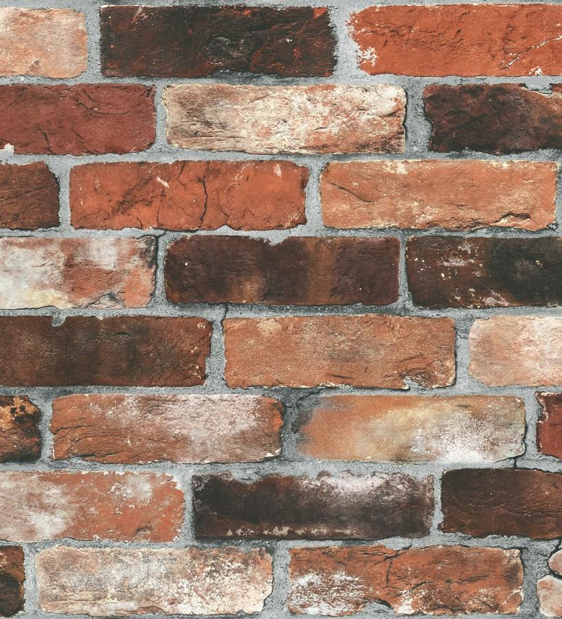 Papel pintado muro de ladrillos vintage estilo industrial Jackson Street 121267