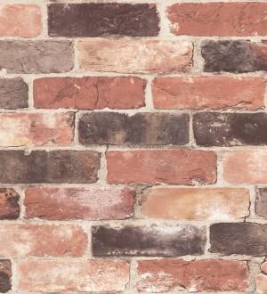 Papel pintado muro de ladrillos rojo teja estilo industrial Jackson Street 121283