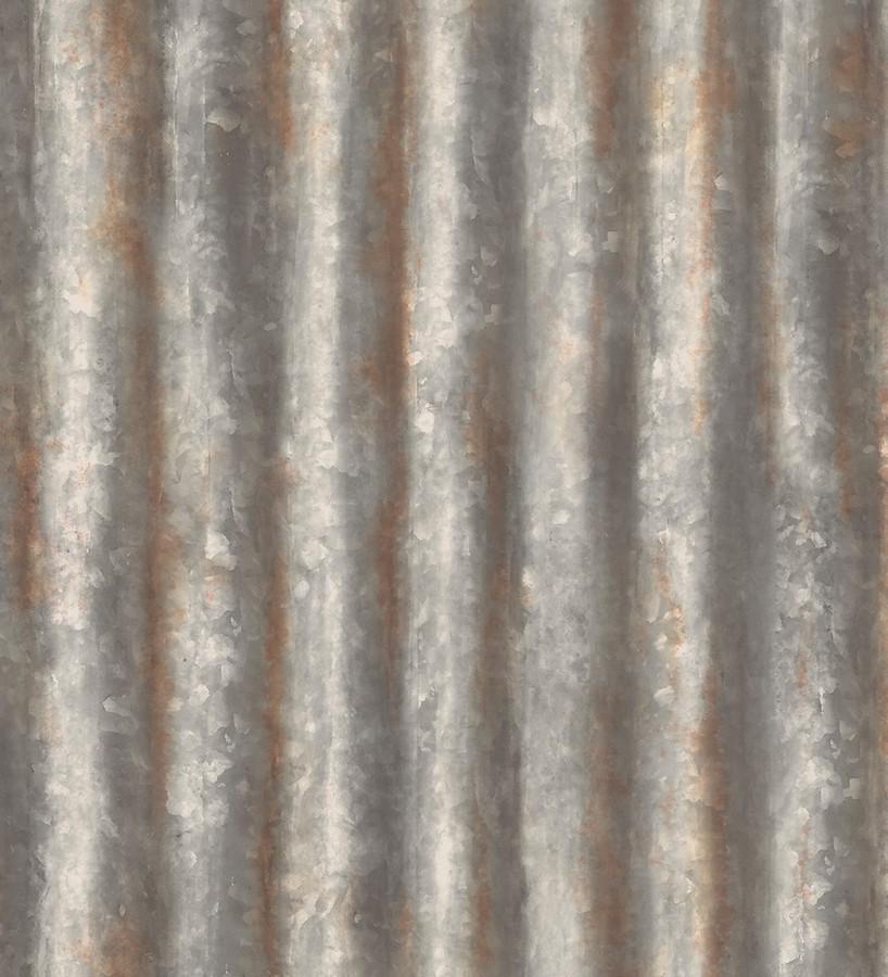 Papel pintado rayas modernas metalizadas estilo industrial Lewis 121292