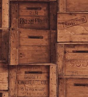 Papel pintado cajas de madera estilo vintage Market Boxes 121305