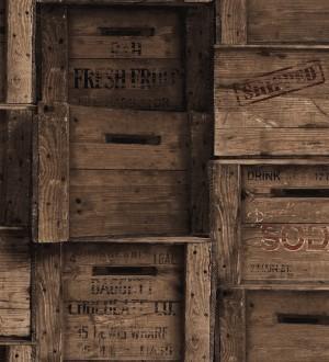 Papel pintado cajas de madera estilo vintage Market Boxes 121307
