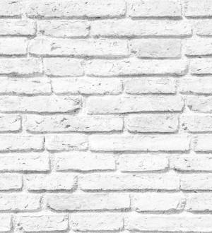 Papel pintado ladrillo blanco vintage estilo nórdico Nordic Street 115500