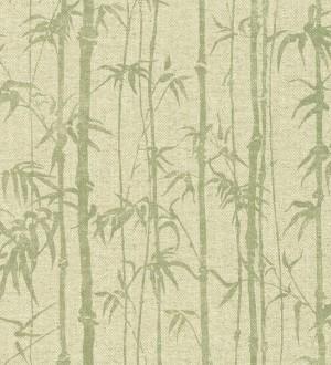 Papel pintado selva tropical de bambú Lagoa Tropical 122400
