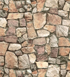 Papel pintado piedra papel efecto muro imitaci n piedra for Plaqueta imitacion piedra para exterior