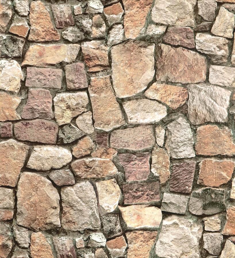 Papel pintado imitación muro de piedra rústico Harold Cross 122369