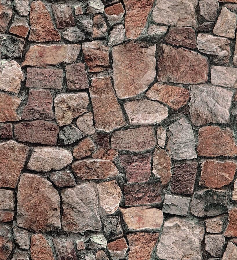 Papel pintado imitación muro de piedra rústico Harold Cross 123136