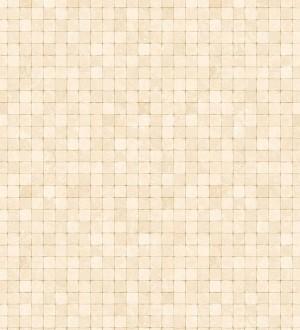 Papel pintado efecto gresite beige Moudin 120888
