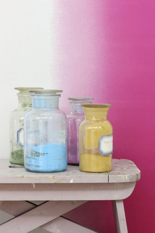 Papel pintado rayas anchas difuminadas tonos rosa Astrid Colours 676891