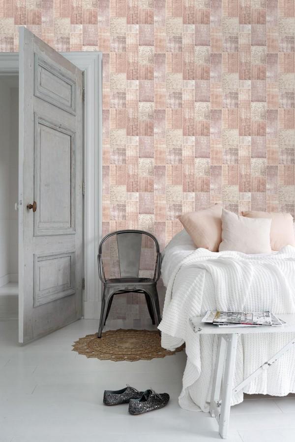 Papel pintado mosaico textil estilo boho Boho Mosaic 676898