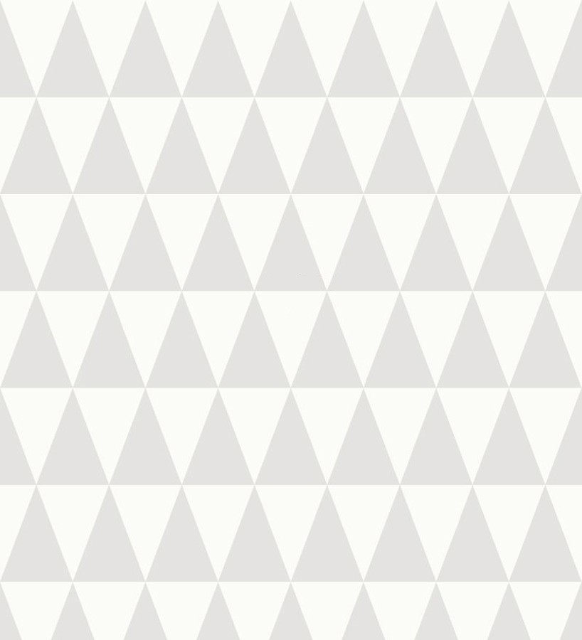 Papel pintado triángulos gris y blanco estilo nórdico Nordem Mountains 676915