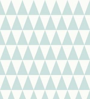 Papel pintado triángulos turquesa oscuro estilo nórdico Nordem Mountains 676916