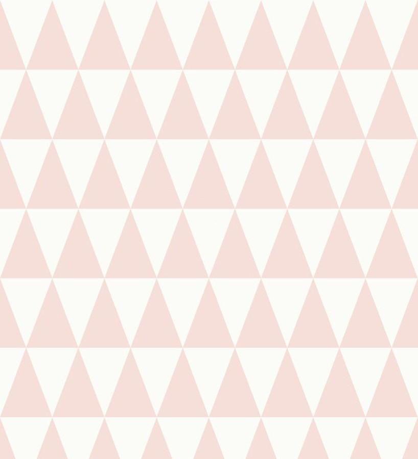 Papel pintado triángulos blanco y rosa estilo nórdico Nordem Mountains 676917