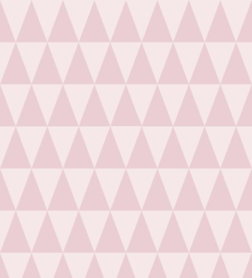 Papel pintado triángulos tonos rosas estilo nórdico Nordem Mountains 676918