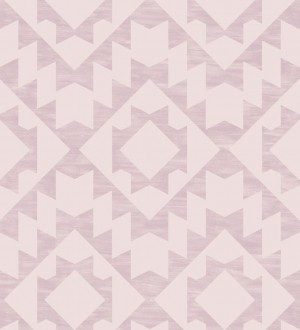Papel pintado geométrico nórdico tonos rosas Nordem Kingdom 676923