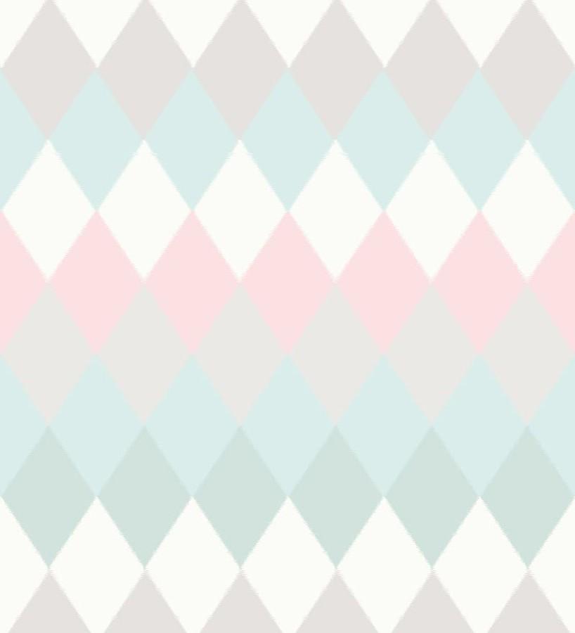 Papel pintado rombos multicolor estilo nórdico North Tandem 676926