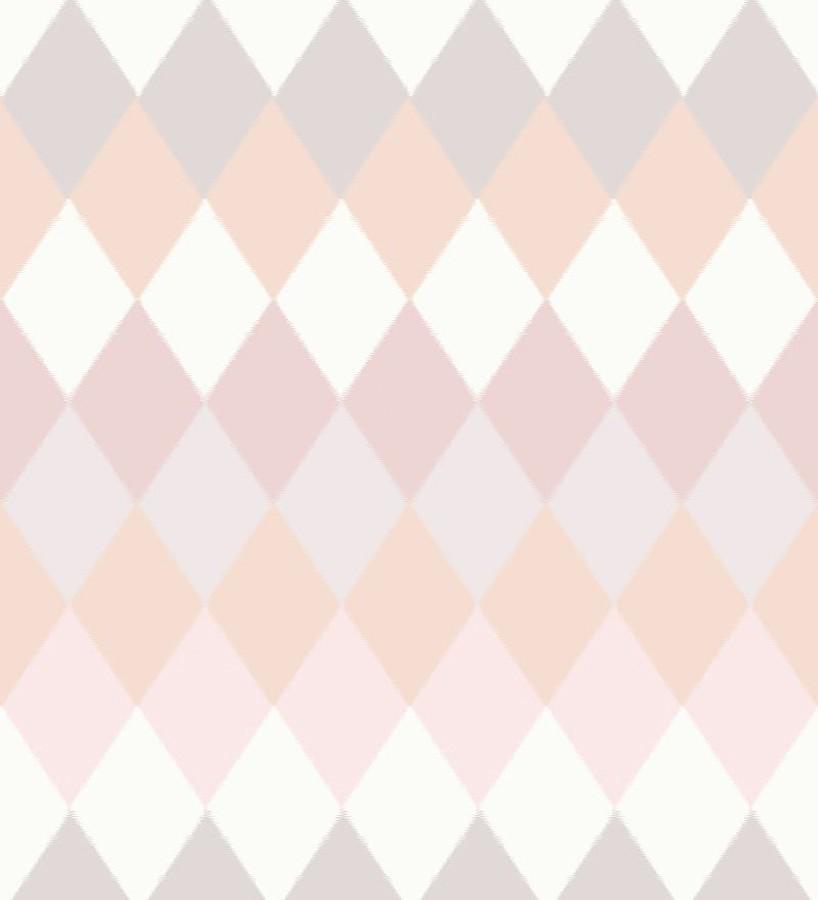 Papel pintado rombos tonos nude estilo nórdico North Tandem 676927
