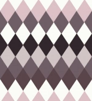 Papel pintado rombos multicolor oscuros estilo nórdico North Tandem 676928