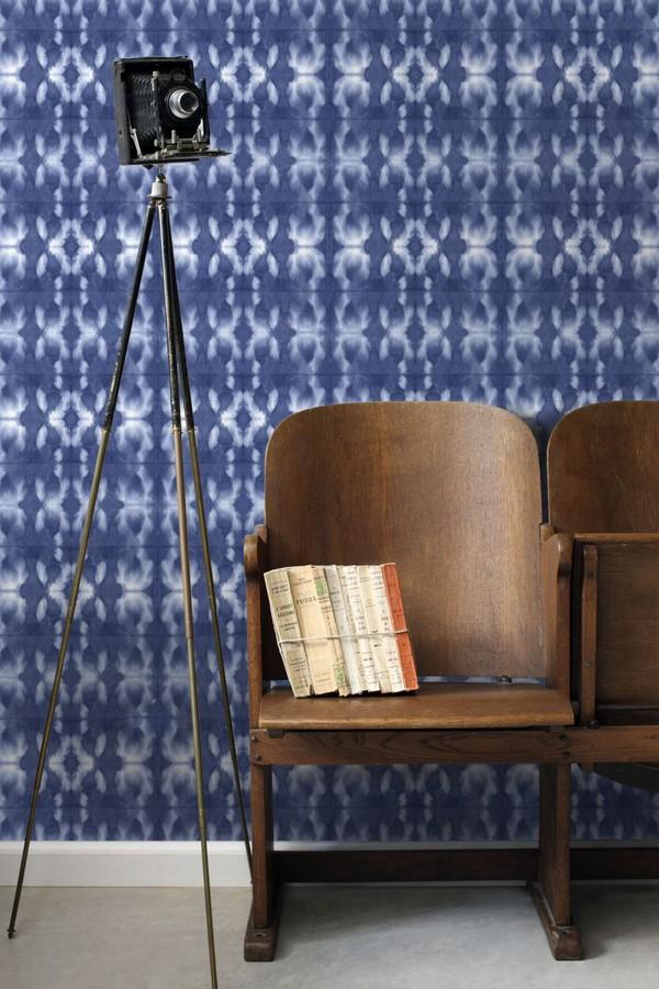 Papel pintado cadenetas difuminadas azul marino estilo nórdico Astrid Nordic 676932