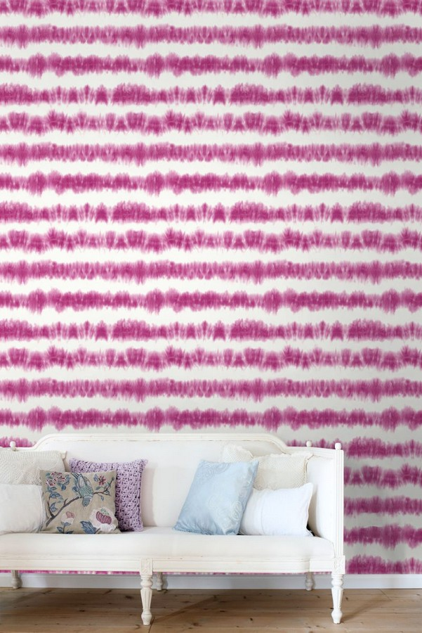 Papel pintado rayas difuminadas tonos rosa estilo nórdico Raya Astrid Ethnic 676935