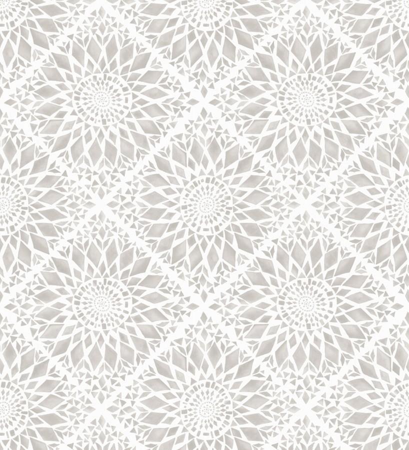 Papel pintado mosaico de azulejos modernos gris y blanco Ibizan Metrix 676966