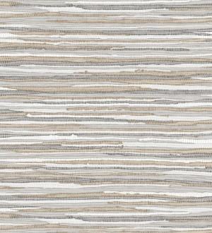 Papel pintado trama textil tonos grises Ibizan Stripes 676975