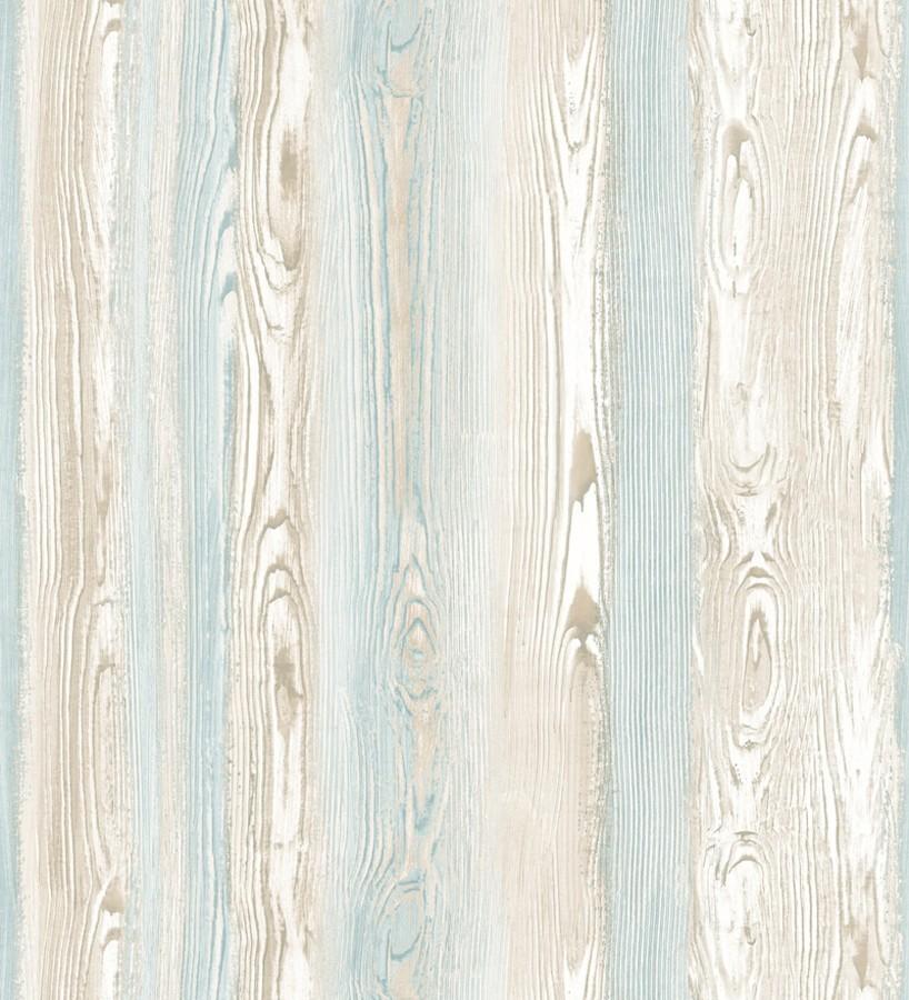 Papel pintado madera veteada celeste y blanco Balkan Hills 676982