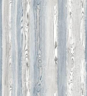 Papel pintado madera veteada azul y blanco Balkan Hills 676983